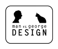 MAN vs. GEORGE DESIGN logo
